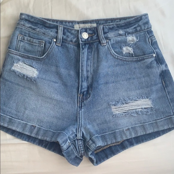 PacSun Pants - Denim Mom Shorts from Pacsun